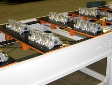 Conveyor Roller Systems with Manufactured Parts Designed by H and C S