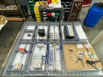 Electrical panel in build stage
