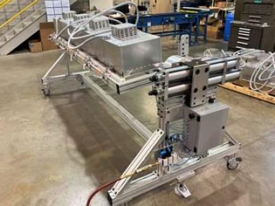 Mobile rotisserie cart for multiple positioning assembly