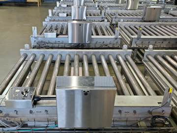 Stainless steel conveyor sections and control panels