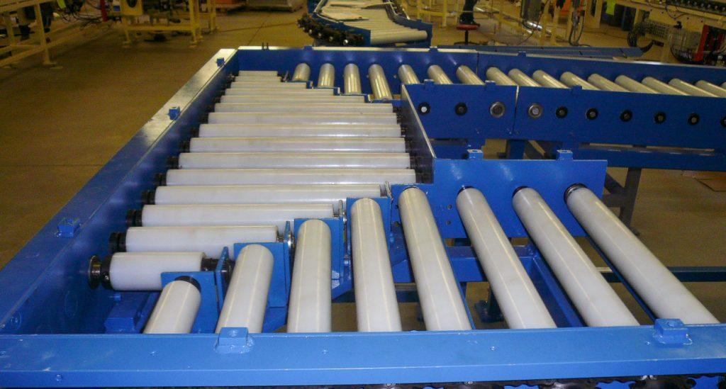 90 degree rollers on PRM conveyor