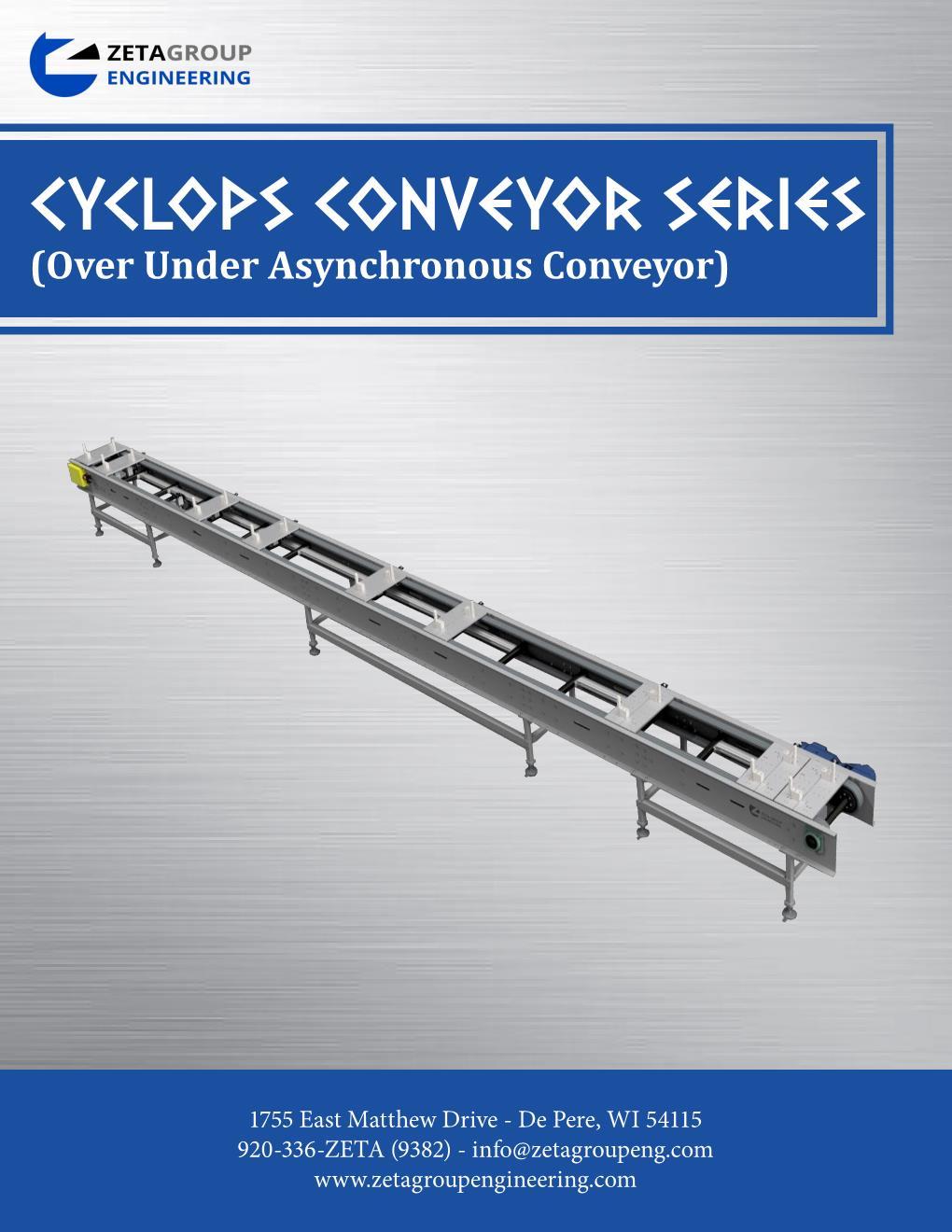 Over Under Conveyor Brochure - Cyclops Series