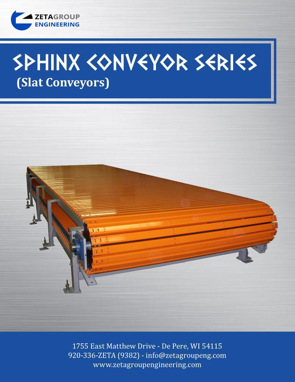 Slat Conveyor Brochure - Sphinx Series