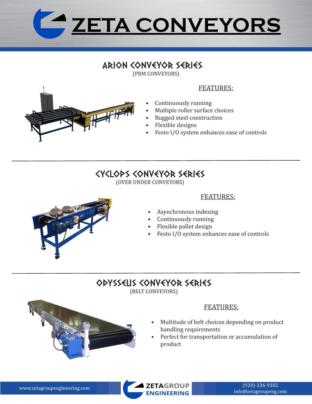 Zeta Conveyor Lineup Brochure