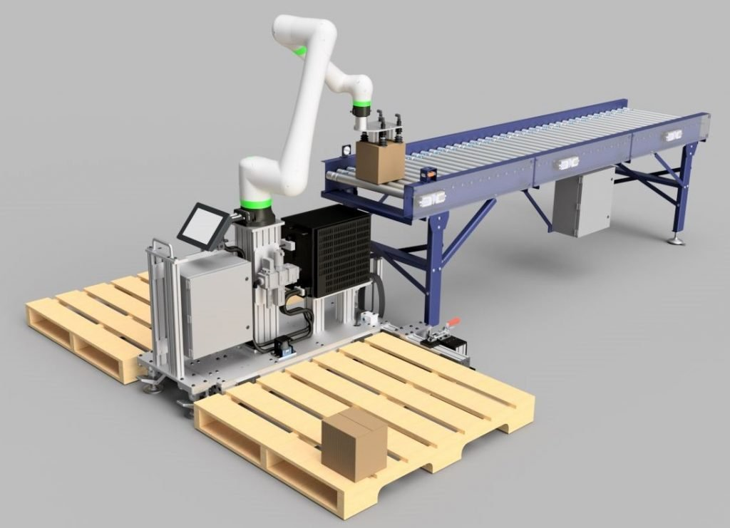 Collaborative palletizer rendering with Fanuc CRX