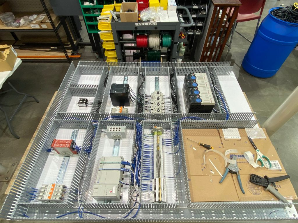 In process building of electrical panel