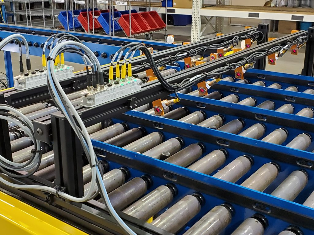 Wiring on a conveyor project